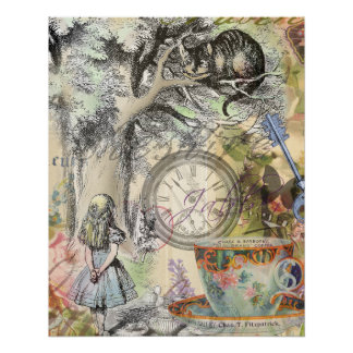 Cheshire Cat Alice in Wonderland Poster