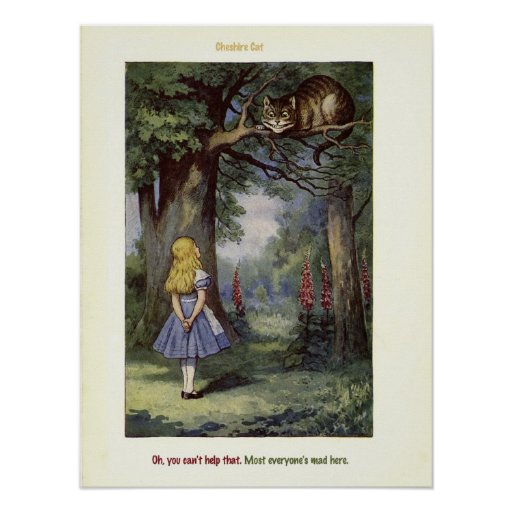 Cheshire CAT Alice in Wonderland print