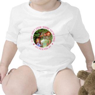 CHESHIRE CAT - ANY PATH WILL DO BABY BODYSUIT