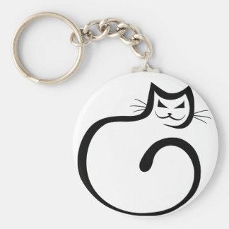 Cheshire Cat Basic Round Button Key Ring