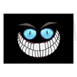 Cheshire Cat - Blue Eyes Note Card