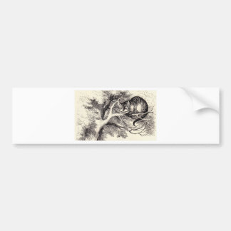 Cheshire Cat Bumper Sticker