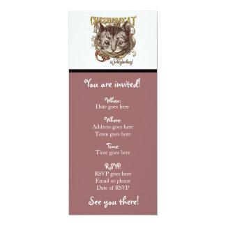 Cheshire Cat Carnivale Style (Gold Version) Custom Invitation