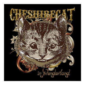 Cheshire Cat Carnivale Style (Gold Version) Poster