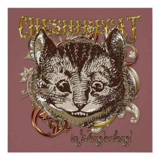 Cheshire Cat Carnivale Style (Gold Version) Print