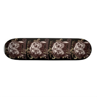 Cheshire Cat Carnivale Style Custom Skate Board