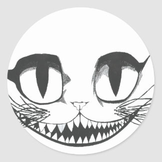 Cheshire Cat Classic Round Sticker