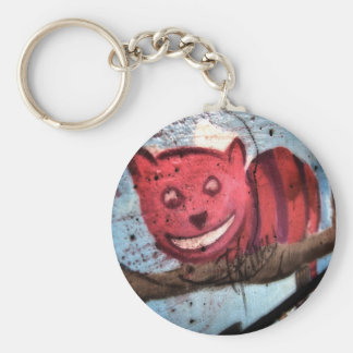 Cheshire Cat Grin Basic Round Button Key Ring