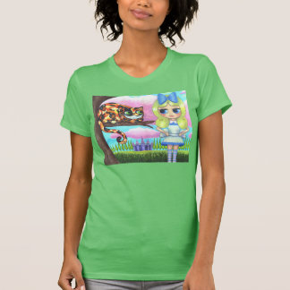 Cheshire Cat in a Tree Alice in Wonderland Emo Tee Shirts