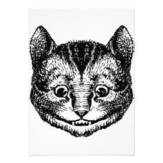 Cheshire Cat Inked Black Invites
