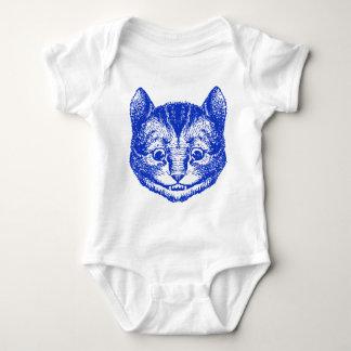 Cheshire Cat Inked Blue Baby Bodysuit