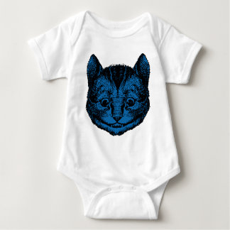 Cheshire Cat Inked Blue Fill Baby Bodysuit