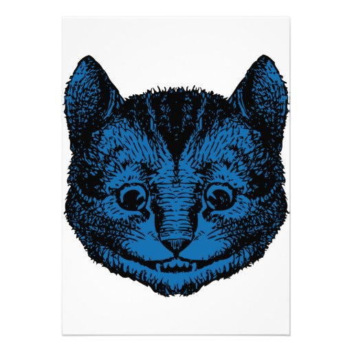 Cheshire Cat Inked Blue Fill Announcement