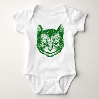 Cheshire Cat Inked Green Baby Bodysuit