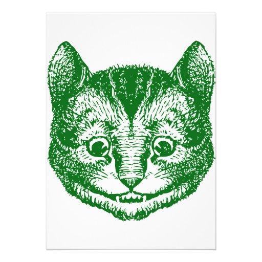 Cheshire Cat Inked Green Invite