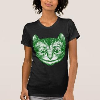 Cheshire Cat Inked Green T-shirt