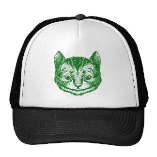 Cheshire Cat Inked Green Trucker Hat