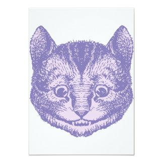 Cheshire Cat Inked Lavender 13 Cm X 18 Cm Invitation Card
