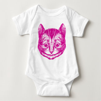Cheshire Cat Inked Pink Baby Bodysuit