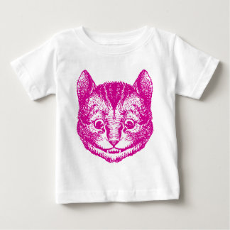 Cheshire Cat Inked Pink Baby T-Shirt