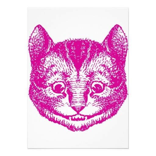 Cheshire Cat Inked Pink Announcements