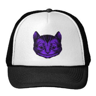 Cheshire Cat Inked Purple Fill Mesh Hats
