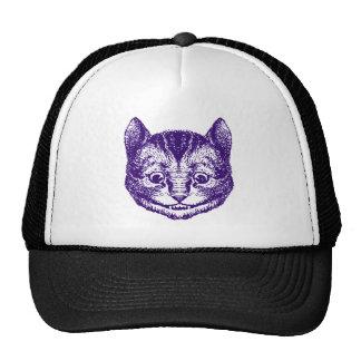 Cheshire Cat Inked Purple Mesh Hat