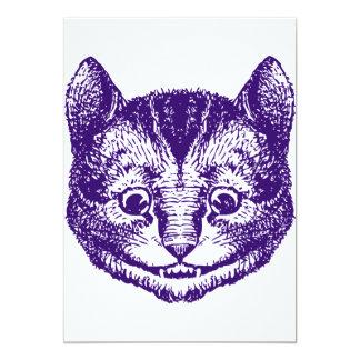 Cheshire Cat Inked Purple Invites