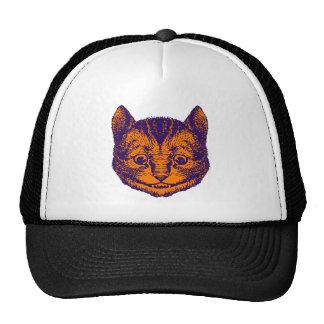 Cheshire Cat Inked Purple Orange Hats