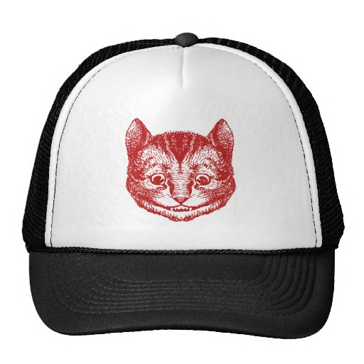 Cheshire Cat Inked Red Mesh Hats