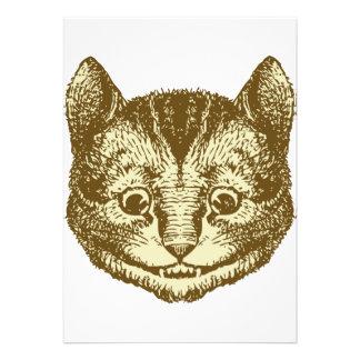 Cheshire Cat Inked Sepia Custom Invites