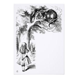 Cheshire cat custom invitations