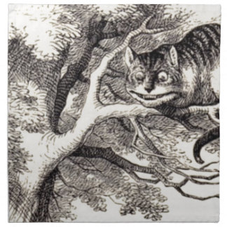 Cheshire cat napkin