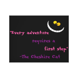Cheshire Cat Quote Canvas Print