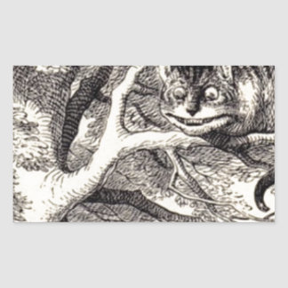Cheshire Cat Rectangular Sticker