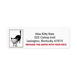 Cheshire Cat Return Address labels, Personalize Return Address Label
