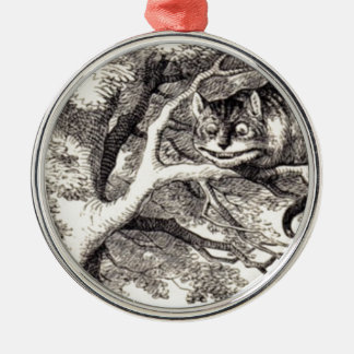 Cheshire cat Silver-Colored round decoration