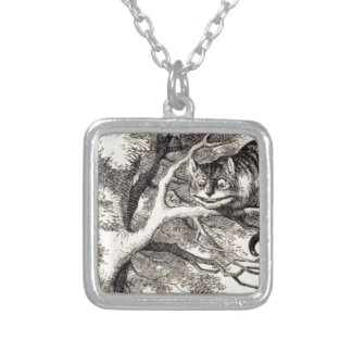 Cheshire Cat Silver Plated Necklace