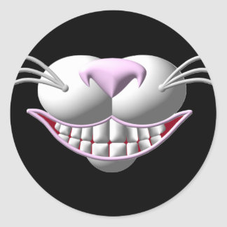 Cheshire Cat Smile Classic Round Sticker