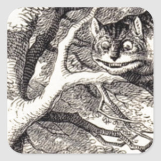 Cheshire Cat Square Sticker