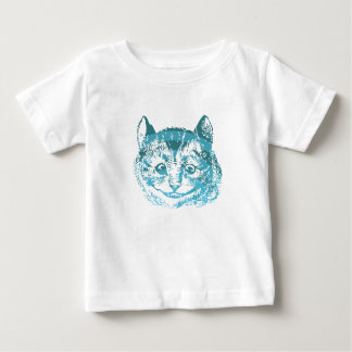 Cheshire Cat Striped Blue Baby T-Shirt