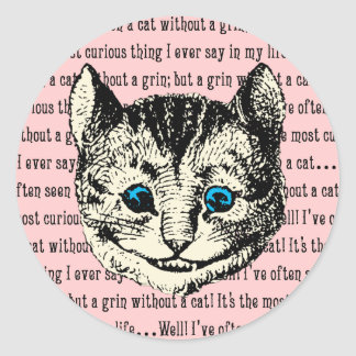 Cheshire Cat - Vintage Alice in Wonderland Classic Round Sticker