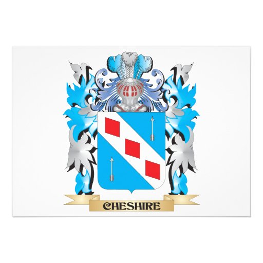 Cheshire Coat of Arms - Family Crest Personalized Invitations