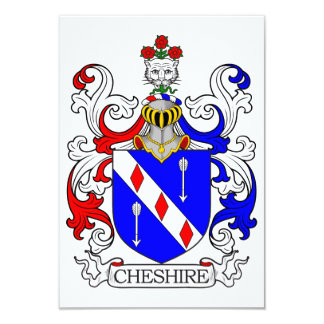 Cheshire Coat of Arms Customized Invitation Card