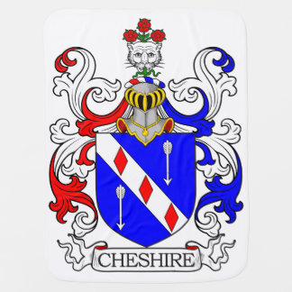 Cheshire Coat of Arms Stroller Blankets