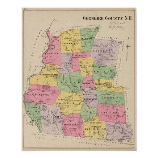 Cheshire County, NH Print