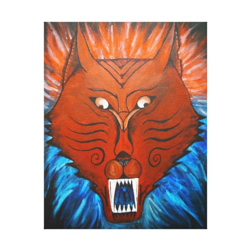 Cheshire Dog Stretched Canvas Print