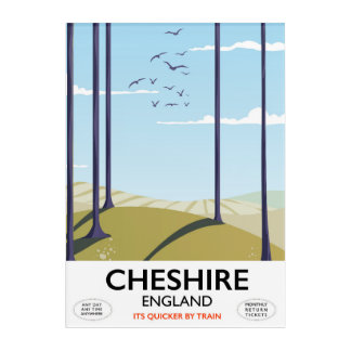 Cheshire, England travel poster Acrylic Wall Art