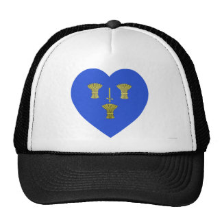 Cheshire Flag Heart Mesh Hats