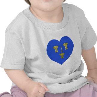 Cheshire Flag Heart Tee Shirt